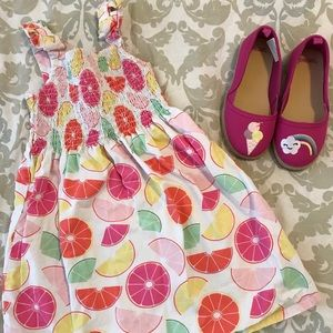 Smocked Citrusy Sundress from Gymboree